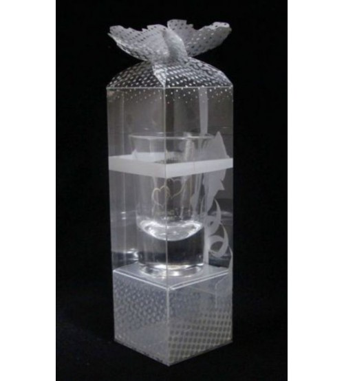 One Shot Glass Clear PVC Gift Box C1SG