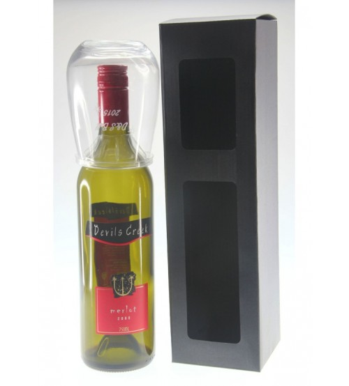 One Stemless Glass with Bottle Gift Box 1SWG+B