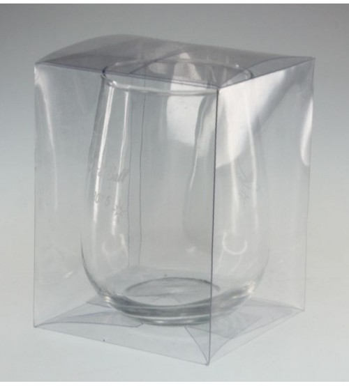 One Stemless Wine Glass Clear PVC Gift Box C1SWG