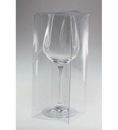 One Wine Glass Clear Pvc Gift Box C1wg