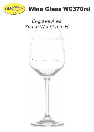 Wine Glass WC370ml Engrave Area Template
