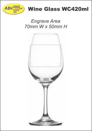 Wine Glass WC420ml Engrave Area Template