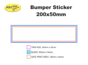 200x50mm Bumper Sticker Template