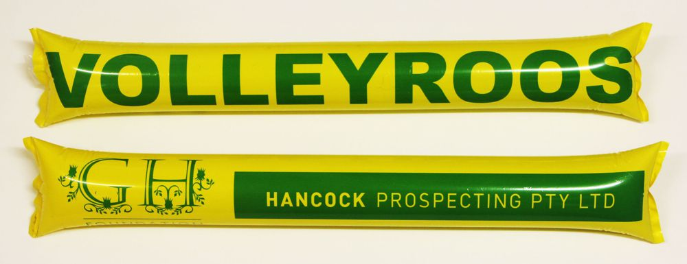 australia-volleyroo-gold-green-inflatable-cheering-sticks-bam-bam-thunder-abc2000